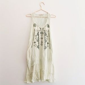 Soft Surroundings Embroidered Casual Summer Dress